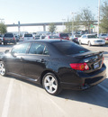 toyota corolla 2009 black sedan xrs gasoline 4 cylinders front wheel drive automatic 76137