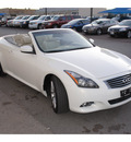 infiniti g37 convertible 2011 white gasoline 6 cylinders rear wheel drive automatic 78501