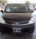 nissan versa 2011 dk  brown hatchback 1 8 s gasoline 4 cylinders front wheel drive automatic with overdrive 77477