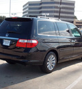 honda odyssey 2007 black van touring gasoline 6 cylinders front wheel drive automatic with overdrive 77074