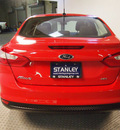 ford focus 2012 red sedan sel 4 cylinders automatic 75219