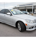 mercedes benz c class 2009 white sedan c300 sport gasoline 6 cylinders rear wheel drive automatic 78626