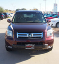 honda pilot 2007 dk  red suv ex l w dvd gasoline 6 cylinders front wheel drive automatic 76049