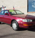 toyota camry 1992 red sedan le gasoline 4 cylinders front wheel drive automatic with overdrive 80229