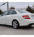 mercedes benz c300 2010 white sedan gasoline 6 cylinders rear wheel drive automatic 77002