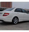 mercedes benz c300 2010 white sedan gasoline 6 cylinders rear wheel drive automatic 77002