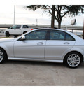 mercedes benz c class 2008 silver sedan c300 luxury gasoline 6 cylinders rear wheel drive automatic 77074