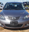 mazda mazda3 2005 silver hatchback s gasoline 4 cylinders front wheel drive automatic 78009