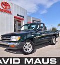 toyota tacoma 1999 green pickup truck sst gasoline 4 cylinders rear wheel drive automatic 32771
