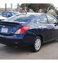 nissan versa 2013 dk  blue sedan 1 6 s plus gasoline 4 cylinders front wheel drive automatic 77477