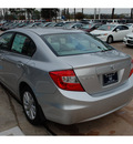 honda civic 2012 silver sedan ex gasoline 4 cylinders front wheel drive automatic 77339