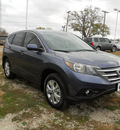 honda cr v 2013 blue suv ex gasoline 4 cylinders front wheel drive automatic 75606