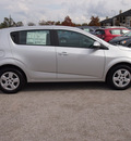 chevrolet sonic 2013 silver hatchback ls gasoline 4 cylinders front wheel drive not specified 77090
