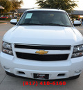 chevrolet tahoe 2012 white suv lt 8 cylinders automatic 76051