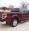 ford f 150 2010 dk  red xlt gasoline 8 cylinders 2 wheel drive automatic 76011