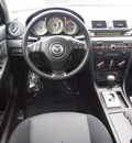 mazda mazda3 2007 red sedan gasoline 4 cylinders front wheel drive automatic 77802