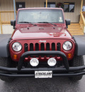 jeep wrangler 2007 red suv x gasoline 6 cylinders 4 wheel drive automatic 77581