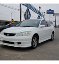 honda civic 2005 white coupe ex gasoline 4 cylinders front wheel drive automatic with overdrive 77627
