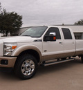 ford f 350 super duty 2012 white king ranch biodiesel 8 cylinders 4 wheel drive automatic 76011
