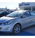 hyundai elantra 2013 silver sedan limited gasoline 4 cylinders front wheel drive automatic 77094