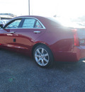 cadillac ats 2013 red sedan 2 5l gasoline 4 cylinders rear wheel drive automatic 77074