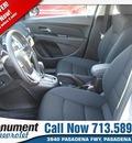 chevrolet cruze 2013 silver sedan 1lt auto gasoline 4 cylinders front wheel drive automatic 77503