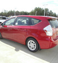 toyota prius v 2013 red wagon three hybrid 4 cylinders front wheel drive automatic 75569