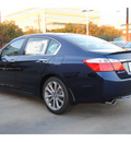 honda accord 2013 blue sedan sport gasoline 4 cylinders front wheel drive cont  variable trans  77025