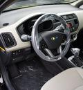 kia rio 2013 aurora black sedan lx gasoline 4 cylinders front wheel drive automatic 19153