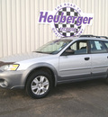 subaru outback 2005 brilliant silver wagon 2 5i gasoline 4 cylinders all whee drive manual 80905