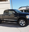 dodge ram 1500 2008 black pickup truck laramie gasoline 8 cylinders rear wheel drive automatic with overdrive 76011