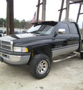 dodge ram 1500 1996 black pickup truck slt flat bed gasoline v8 4 wheel drive automatic 75503
