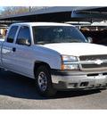chevrolet silverado 1500 2005 white pickup truck work truck gasoline 6 cylinders rear wheel drive automatic 76401