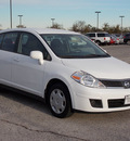 nissan versa 2009 white hatchback 1 8 s gasoline 4 cylinders front wheel drive automatic 77074