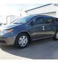 honda odyssey 2013 dk  gray van lx gasoline 6 cylinders front wheel drive not specified 77034