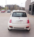 fiat 500 2013 pearl white hatchback sport gasoline 4 cylinders front wheel drive 5 speed manual 76108
