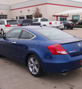 honda accord 2011 blue coupe ex l v6 w navi gasoline 6 cylinders front wheel drive automatic 75067