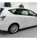toyota prius v 2013 blizzard pearl wagon five hybrid 4 cylinders front wheel drive automatic 91731