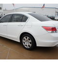 honda accord 2010 white sedan lx gasoline 4 cylinders front wheel drive automatic 77034