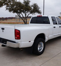 dodge ram 3500 2009 white pickup truck diesel 6 cylinders 2 wheel drive automatic 76087