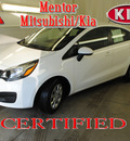 kia rio 2012 white sedan lx gasoline 4 cylinders front wheel drive automatic 44060
