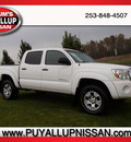 toyota tacoma 2008 white prerunner sr5 v6 2wd gasoline 6 cylinders 2 wheel drive automatic 98371