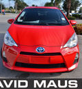 toyota prius 2012 red hatchback c hybrid 4 cylinders front wheel drive automatic 32771