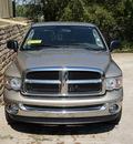 dodge ram 1500 2005 tan pickup truck slt gasoline 8 cylinders rear wheel drive automatic 76210