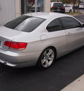 bmw 3 series 2007 silver coupe 335i gasoline 6 cylinders rear wheel drive automatic with overdrive 77802