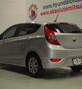 hyundai accent 2013 silver hatchback gs gasoline 4 cylinders front wheel drive automatic 75150