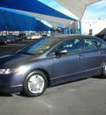 honda civic 2007 gray sedan hybrid hybrid 4 cylinders front wheel drive automatic 79936