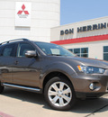 mitsubishi outlander 2012 gray suv se gasoline 4 cylinders front wheel drive automatic with overdrive 75062