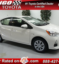 toyota prius c 2012 white hatchback two 4 cylinders automatic 91731