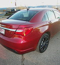 chrysler 200 2013 red sedan limited flex fuel 6 cylinders front wheel drive shiftable automatic 81212